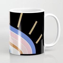 Retro evil eye - black & gold Coffee Mug