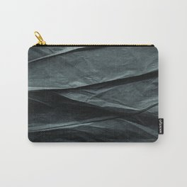 black paper MOUNTAINS Carry-All Pouch
