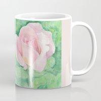 tiffany Mugs featuring Tiffany Rose by Annie Mason