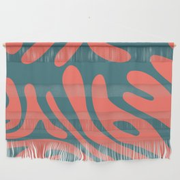 Living Coral in the Deep Sea - Pantone Color Trend 2019 Wall Hanging