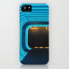 blue neon of NEW YORK iPhone Case