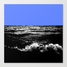 Black Wave w/Light Blue Horizon Canvas Print