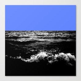 Black Wave w/Light Blue Horizon Canvas Print
