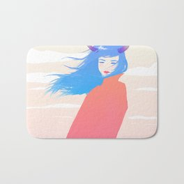 Girl with Horns Bath Mat