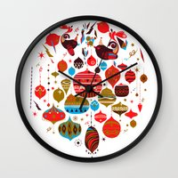 xmas Wall Clocks featuring xmas by echo3005