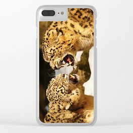 Snow Leopards Clear iPhone Case