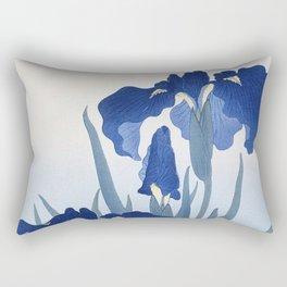 Iris flowers (1925 - 1936) by Ohara Koson (1877-1945) Rectangular Pillow