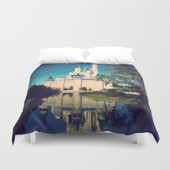 The Disney Castle Duvet Cover By Janice Society6