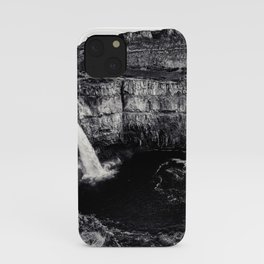 Hidden Waterfall Black and White iPhone Case