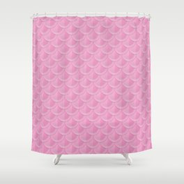 Pink Mermaid Scales Shower Curtain