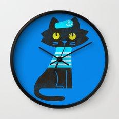 Fitz - Sailor cat Wall Clock