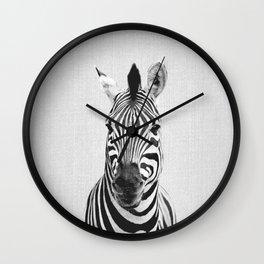 Zebra - Black & White Wall Clock