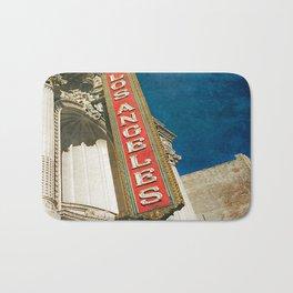 1931 Los Angeles Theatre Vintage Sign Bath Mat