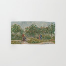 Garden with Courting Couples: Square Saint-Pierre Hand & Bath Towel