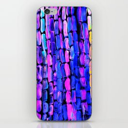 Yellow Sugarcane on Pink and Blue iPhone Skin
