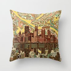 pittsburgh city skyline Throw Pillow
