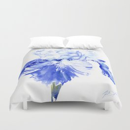 Iris Blue Duvet Cover