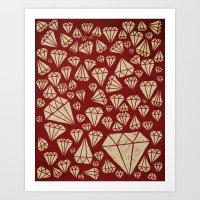 diamond Art Prints featuring diamond by Landon Sheely