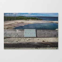 Abyss Pool, West Thumb Geyser Basin, Yellowstone National Park Canvas Print