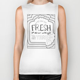 Fresh New Ways – Grey Biker Tank