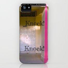KNOCK KNOCK! iPhone Case