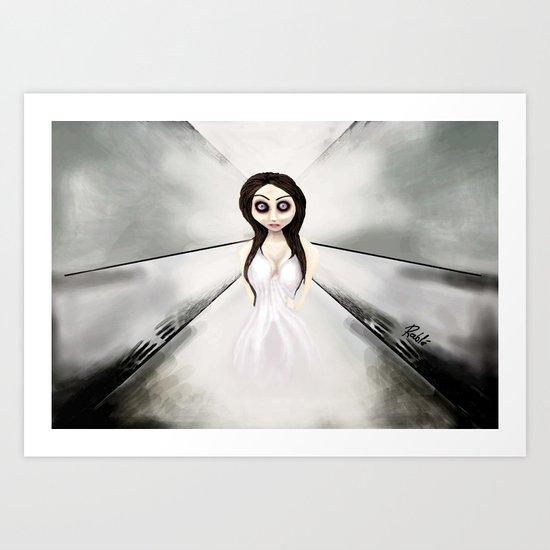 I feel like a ghost. Art Print