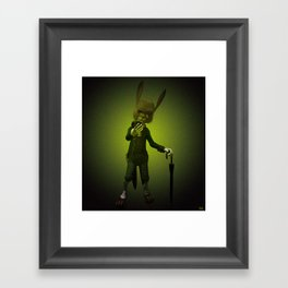 Hare o' Clock Framed Art Print
