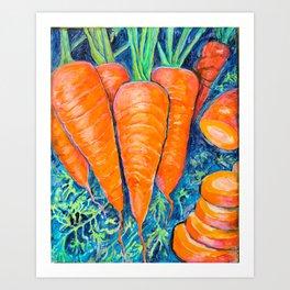 Carrots, yes carrots Art Print