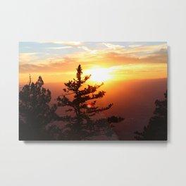 Sunset from the Sandias Metal Print