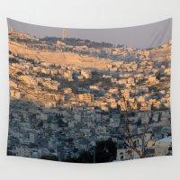 israel Wall Tapestries featuring Jerusalem Living in Israel by Rachel J
