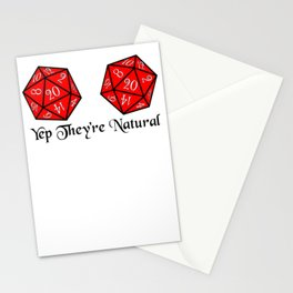 They're Natural 20 Stationery Cards