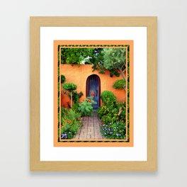 Garden Delights, Mesilla, NM Framed Art Print