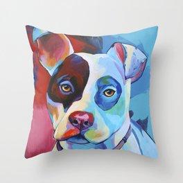 Pete - Pitbull Pop Art Throw Pillow