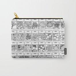 Veggie Seeds Patten - Line Art Carry-All Pouch
