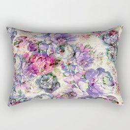 Vintage bohemian rustic pink lavender floral Rectangular Pillow