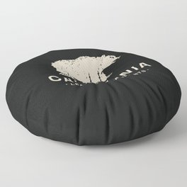 California: Leave Only Pawprints Floor Pillow