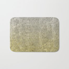 Silver and Gold Glitter Gradient Bath Mat