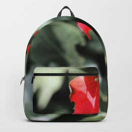 Red Left in the Blues Backpack