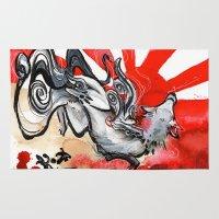 okami Area & Throw Rugs featuring OKAMI by Rubis Firenos
