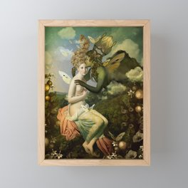 """""""The body, the soul and the garden of love"""" Framed Mini Art Print"""