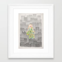 Eva City Glasshouse Framed Art Print