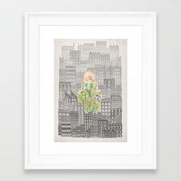 Eva City Glasshouse Framed Art Print