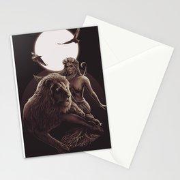 VIII. Strength Tarot Card Illustration Stationery Cards