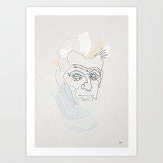 One Line Samuel Beckett Art Print