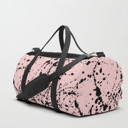 Splat Black on Blush Boarder 2 Duffle Bag
