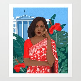 Kamala Harris White House Desi Art Print