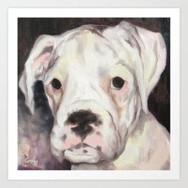 maisy - oil on canvas Art Print