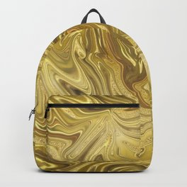 Rich Gold Shimmering Glamorous Luxury Marble Backpack