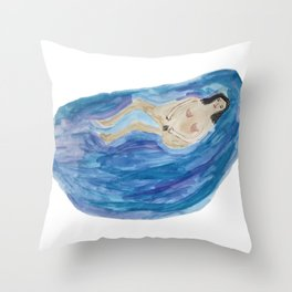 Bathing Woman Throw Pillow