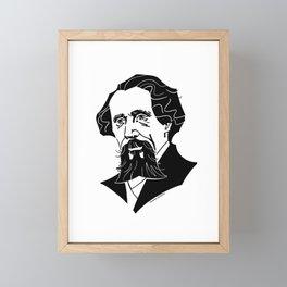 Charles Dickens Framed Mini Art Print